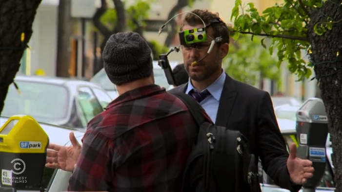 The Daily Show skewers Google Glass