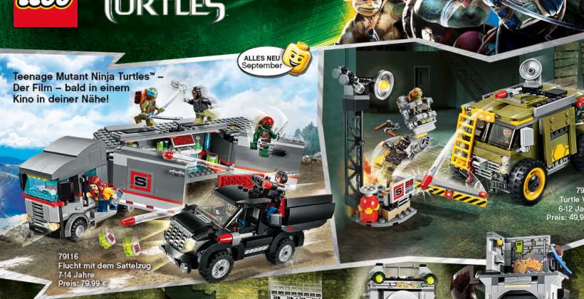 Ninja Turtles movie LEGO sets leak clues to film content