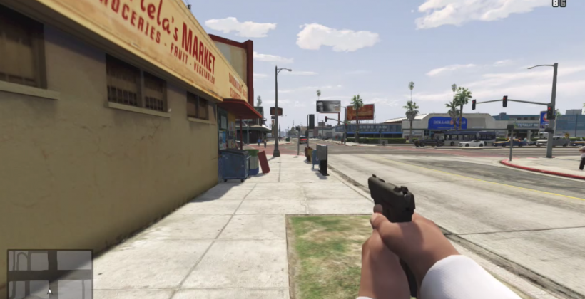 Watch GTA V as a first-person shooter, looking like Half-Life
