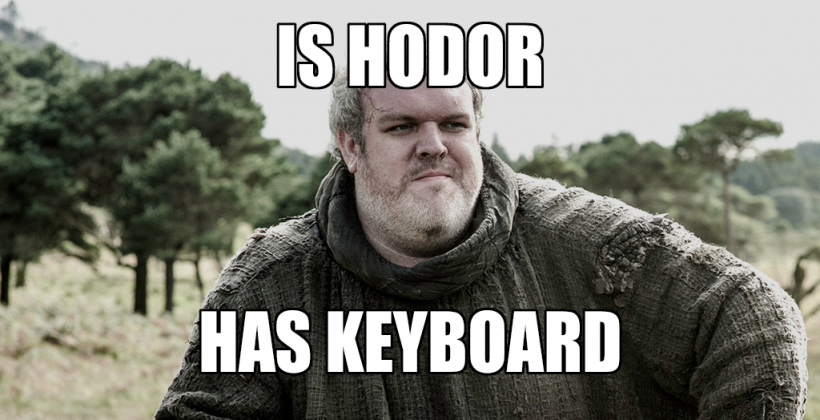 Hodor Keyboard born in iOS 8's Swift