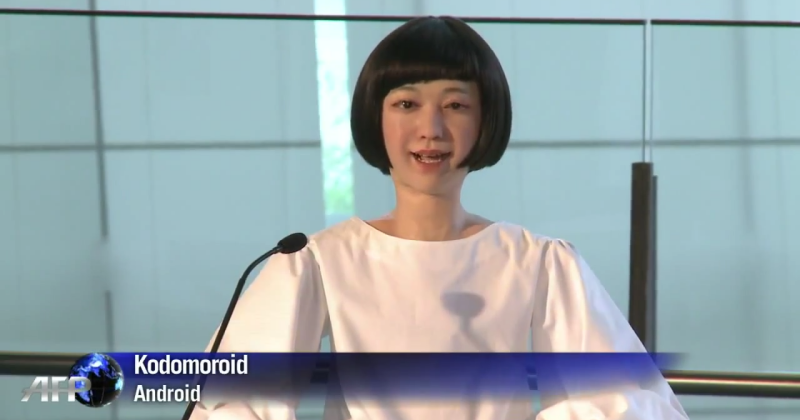 Japan's new robot newscaster cruises the uncanny valley