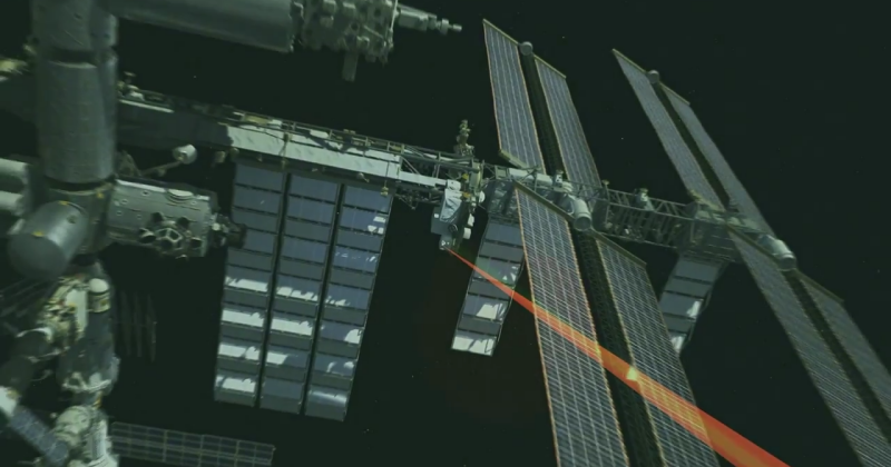 ISS to Earth: Hello World sent via laser
