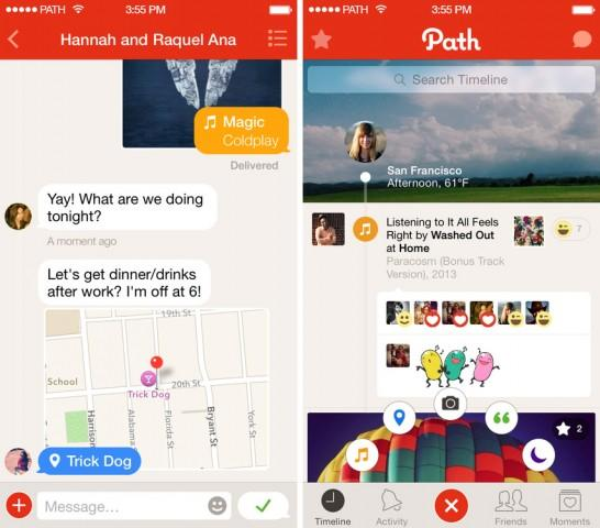 Path Talk messaging app automatically sets your status