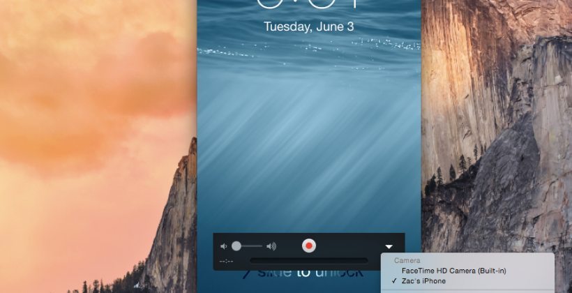 OS X Yosemite now uses iOS 8 for video capture