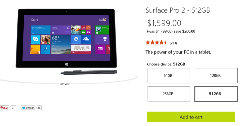 Surface Pro 2 gets big price cuts ahead of Surface Pro 3 launch