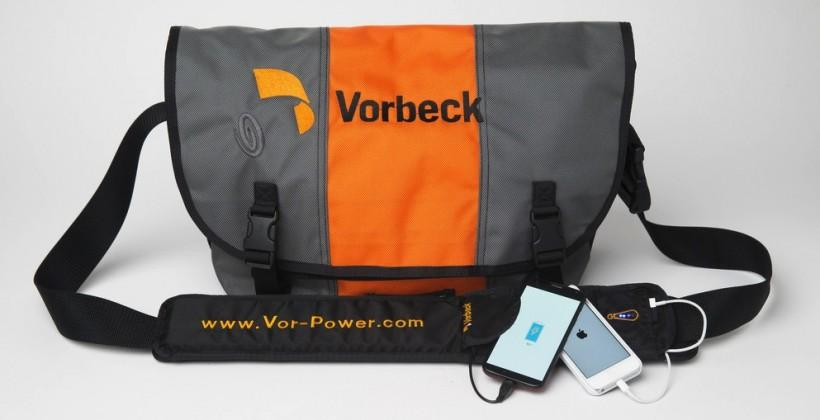 Vor-Power flexible battery turns bag strap into portable charger