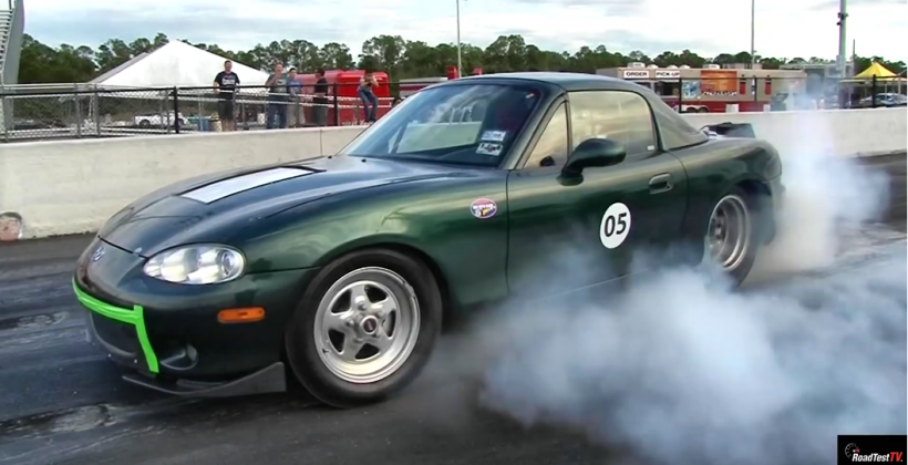 Electric Mazda Miata blows away Model S on the track