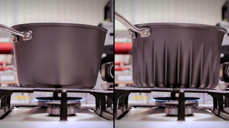 Rocket scientist adds fins to pans, nearly doubles efficiency