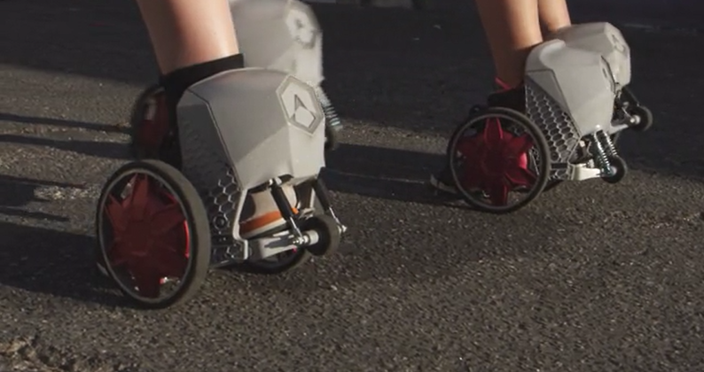 RocketSkates bring motors to your feet