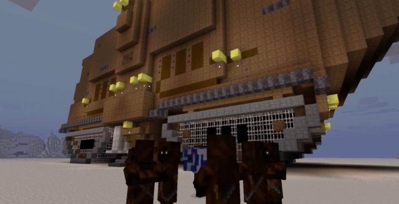 Star Wars Episode IV recreated using Minecraft