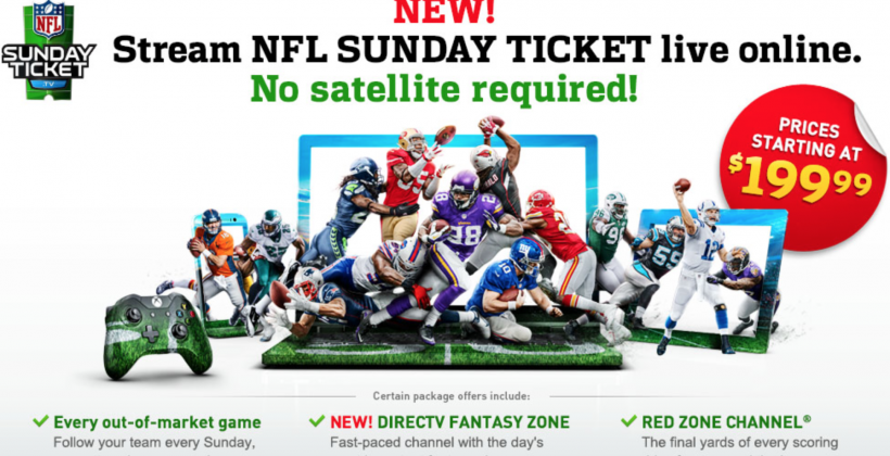 DirecTV Sunday Ticket without satellite? It's coming