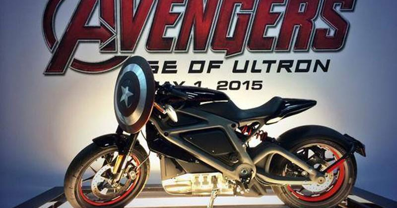 Avengers: Ultron props include Captain America Harley-Davidson
