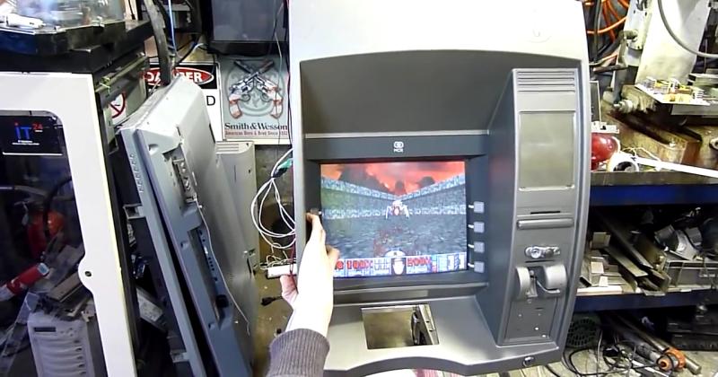 Hack turns ATM into DOOM arcade machine