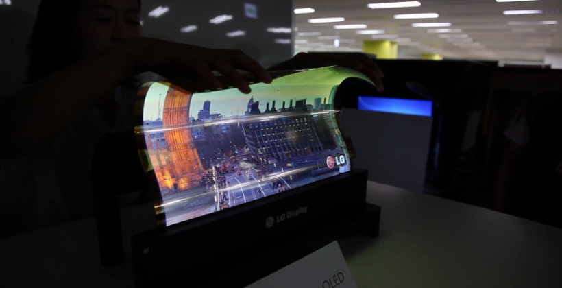 Watch LG roll up its beautiful 18-inch flexible OLED