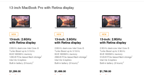 New Retina MacBook Pros arrived: more power at no extra cost