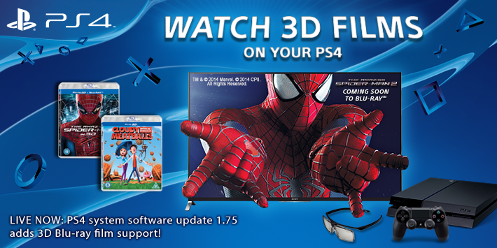 PS4 Update 1.75 adds 3D Blu-ray playback – still no DLNA support