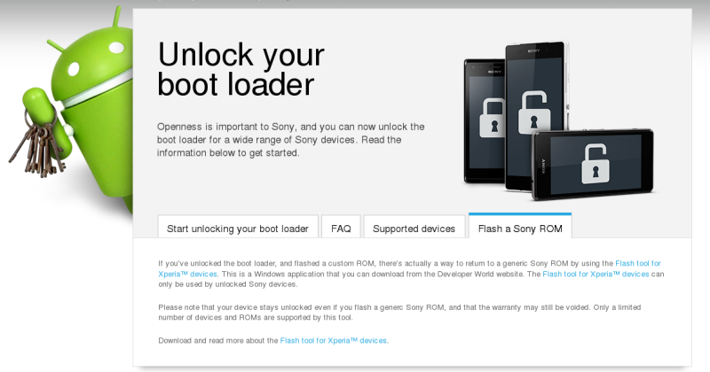 Sony simplifies Bootloader unlocking for Xperia devices