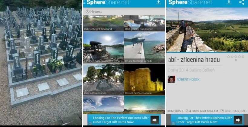 SphereShare is the biggest photosphere app yet Android