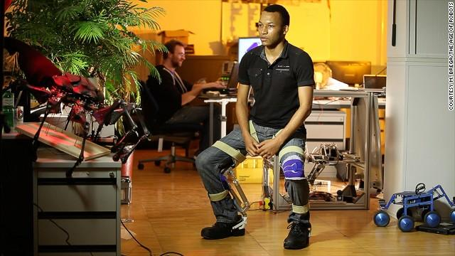 Chairless Chair: a wearable that lets you sit anywhere