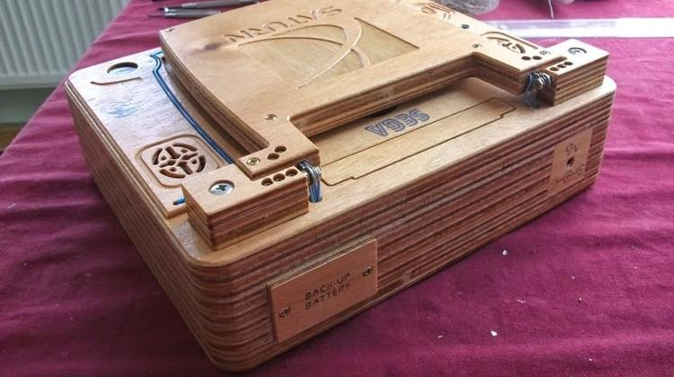Sega Saturn laptop is handcrafted from wood