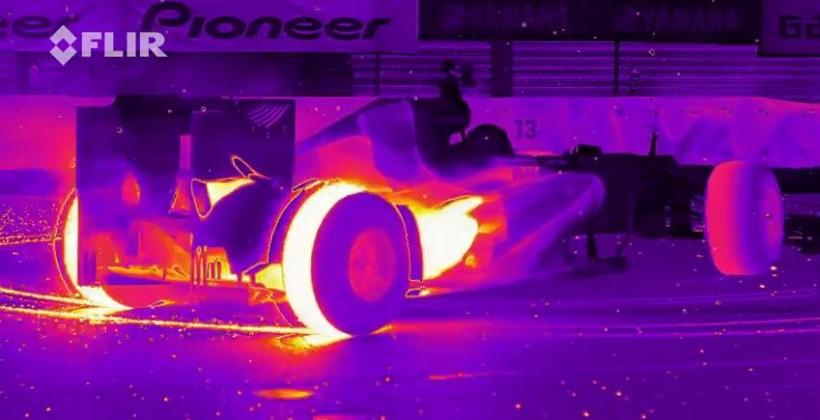 Watch the Red Bull RB8 race in infrared