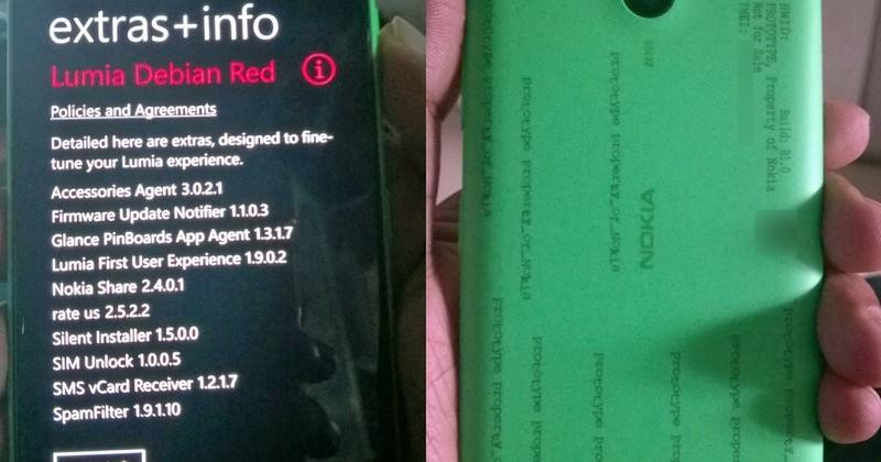 Lumia 730 surfaces in photo with Debian Red firmware
