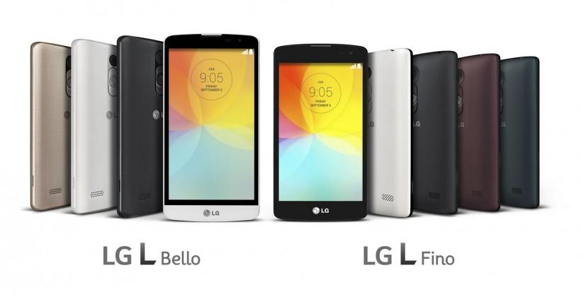 LG L Fino and L Bello distill G3 for mass-market