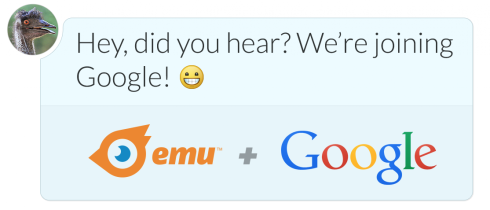 Google acquires messaging startup Emu