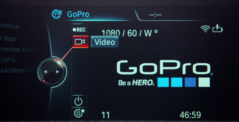 Watch this: BMW controls a GoPro right from the dash