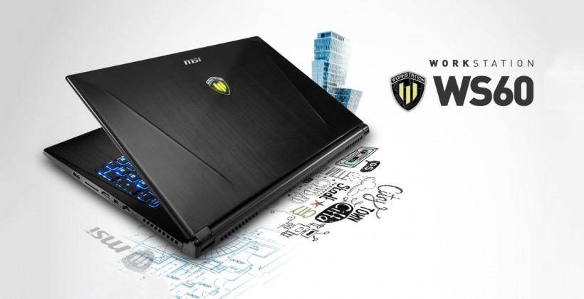 "MSI WS60 brings ""thinnest, lightest workstation ever"" with 3K"