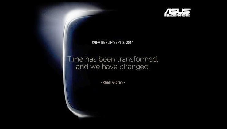 ASUS Smartwatch appearing on September 3rd