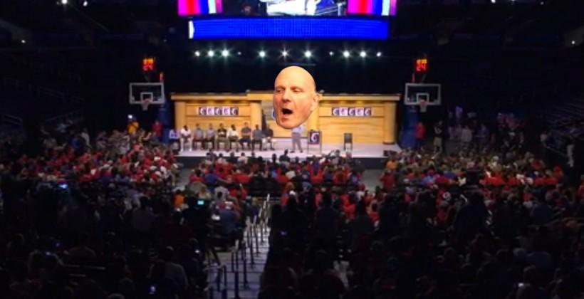 Ballmer Clippers speech baptizes the team in screams