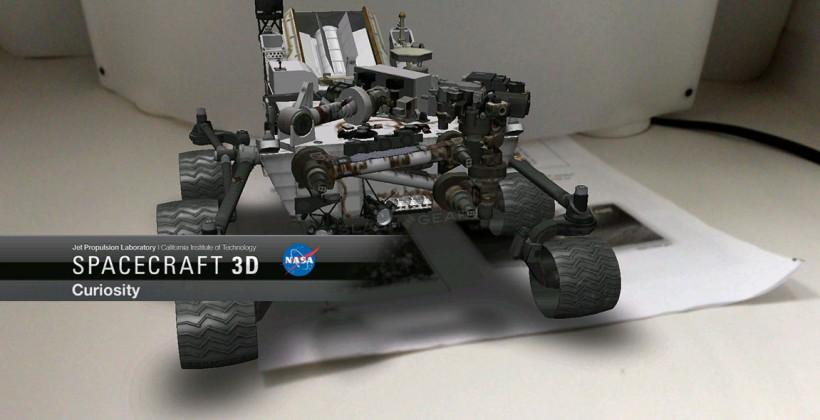 NASA Augmented Reality app brings Mars Rover to your desk