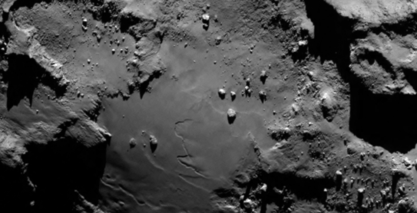 Rosetta spacecraft gets up-close photo of comet's surface