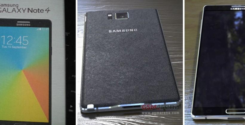 Galaxy Note 4 leak: back, front, and sides