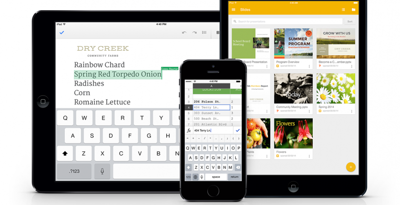 Google brings Slides to iPad, adds Office functionality