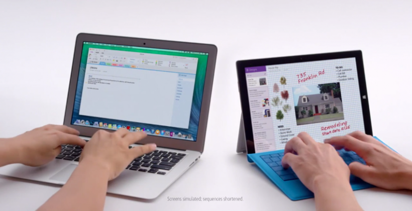Surface Pro 3 has MacBook Air in sights with attack ad trio