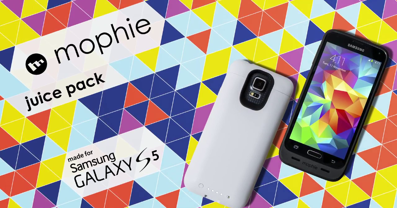 mophie Juice Pack keeps Galaxy S5 users from being wall-huggers
