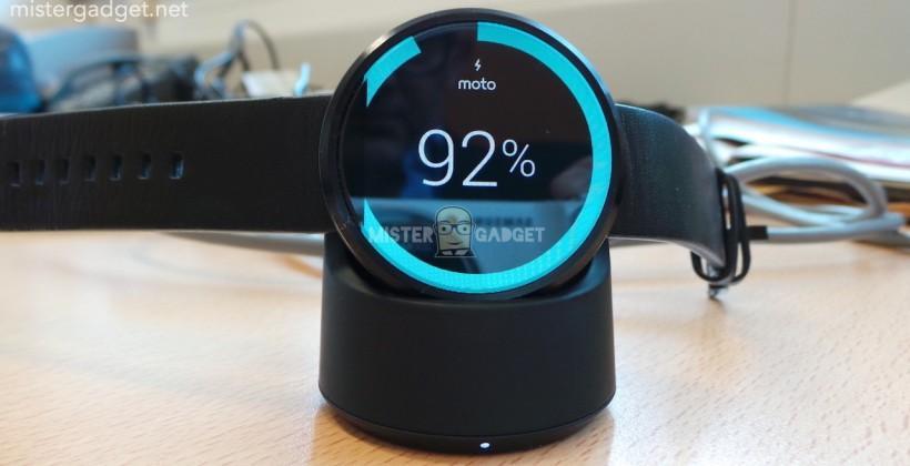 Moto 360 wireless charging and heart sensor confirmed