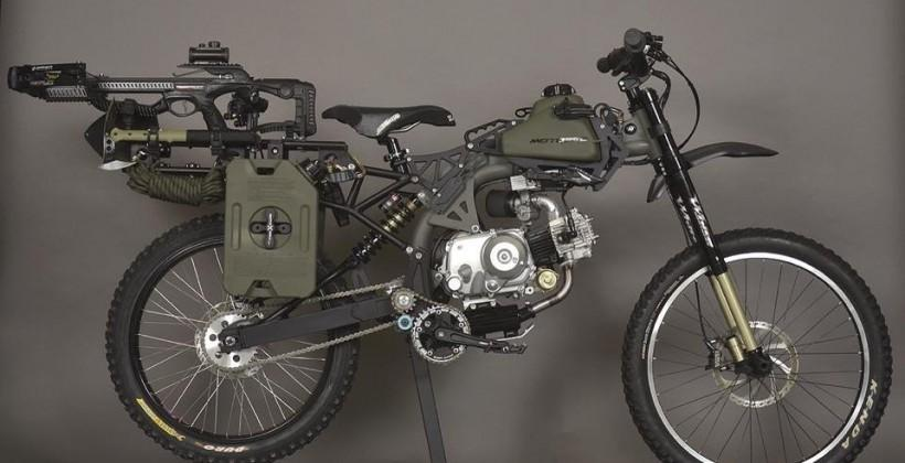 Survival Bike: Black Ops combines a moped and end of the world arsenal