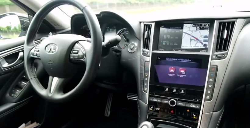 Infiniti's Q50 can drive itself (so this driver rode shotgun)