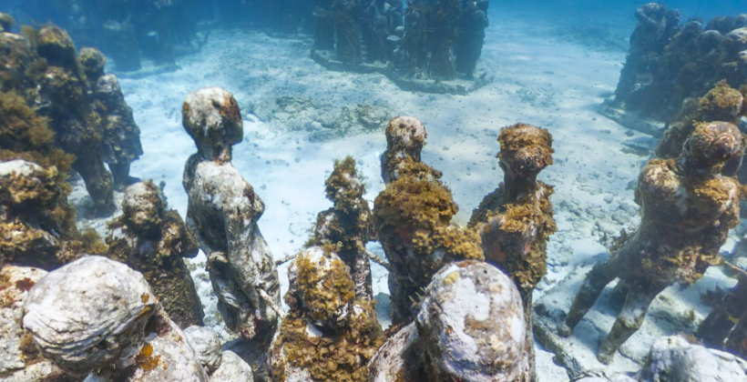 Explore an underwater statue grave with Google Maps