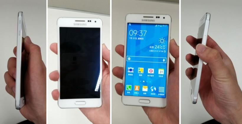 Samsung Galaxy Alpha appears in white