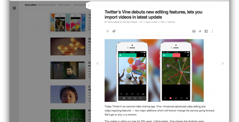Feedly Slider offers a fresh look at your tired RSS feed