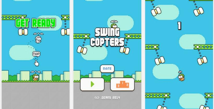 Swing Copters app store downloads live for iOS and Android