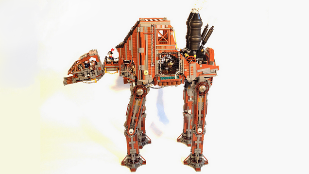 Steampunk LEGO AT-AT mixes the best of both worlds