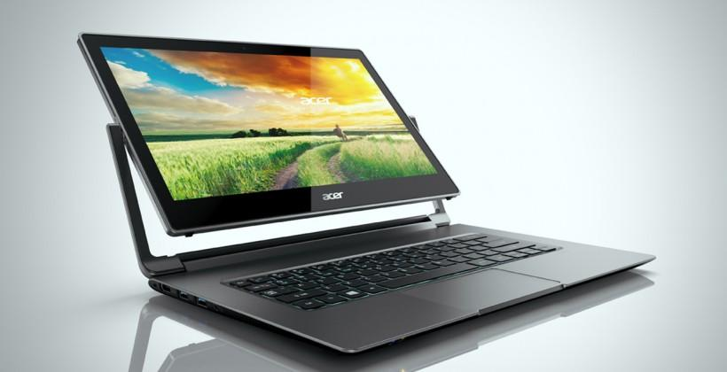 Acer R 13 Notebooks gets 6 kinds of convertible