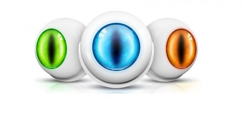 Fibaro Motion Sensor features glowing eyeball design
