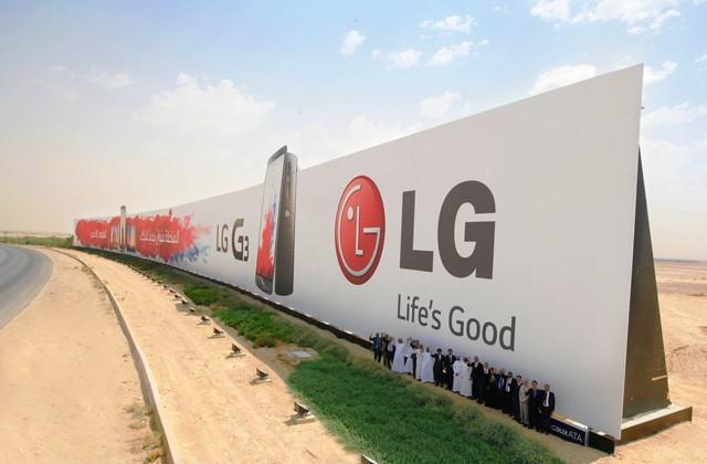 LG breaks world record with billboard as long as two football fields