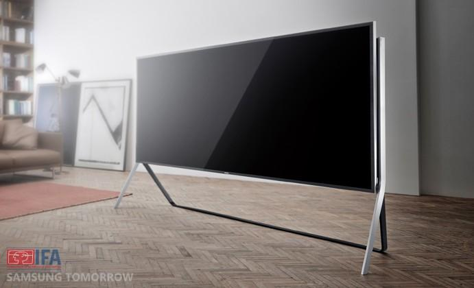 Samsung unveils 105-inch Curved and Bendable UHD TVs